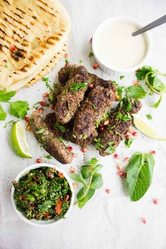 This Ultimate Lamb Kabab Platter is a setting for ultimate flavors and textures, and a setting for the best lamb kabab wrap you'll ever have