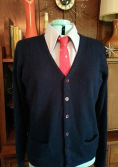 Vintage 1960s Men's King's Road By Sears Navy by dollybirdvintage
