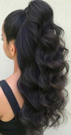 45 elegant ponytail hairstyles for special occasions - # particular . - 45 elegant ponytail hairstyles for special occasions – - Homecoming Hairstyles, Wedding Hairstyles For Long Hair, Braided Hairstyles, Simple Hairstyles, Stylish Hairstyles, Hairstyle Ideas, Hairstyles For Long Hair Prom, Prom Hairstyles Half Up Half Down, Half Pony Hairstyles