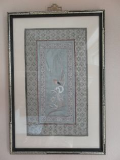 Vintage Antique Chinese Silk Panel Embroidery  by ShatomaVintage, $20.00
