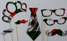 Photo Booth Party Props  Viva Mexico Independance Day 7 by PICWRAP, $14.99