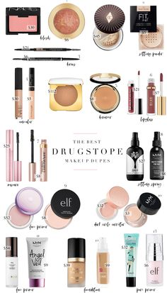 Finding the best drugstore dupes to high-end makeup products has quickly become . - Finding the best drugstore dupes to high-end makeup products has quickly become a hobby. Mac Eyeshadow Dupes, Dupe Makeup, Skin Makeup, Makeup Brushes, Nyx Dupes, Nyx Cosmetics, Mac Blush Dupes, Makeup List, Prom Makeup