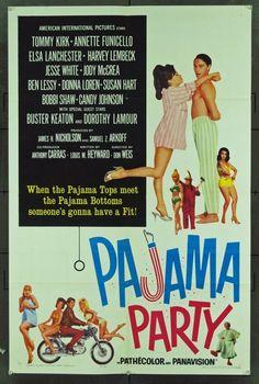pajama party, 1964