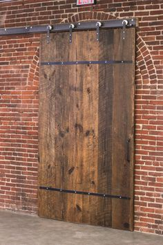 Double Barn Door In The House Window 55 Ideas Barn Door Closet, Diy Barn Door, Sliding Barn Door Hardware, Sliding Doors, Sliding Door Window Treatments, Industrial Door, Industrial Interiors, Industrial Furniture, Vintage Furniture