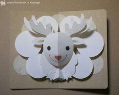 original handmade by Kagisippo. トナカイさん(白)