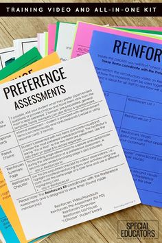 Preference Assessments and Reinforcers Visual Kit - Find out what really motivates your students. Special Educators Resource Room includes a video on how to get the best information to help students. #preferenceassessments #specialeducation #behavior