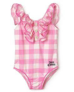 Juicy Couture Bathing Suits | Juicy Couture Infant Girls' Gingham Juicy Swim Suit Choose Juicy ...