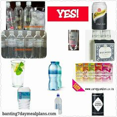 Banting Food List, Food Lists, Healthy Living, Water Bottle, Keto, South Africa, Exercises, Meals, Drinks