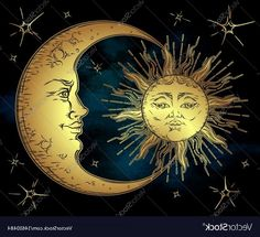 Moon And Sun Painting, To The Moon And Back Tattoo, Tribal Sun, Alchemy Art, Sun Moon Stars, Golden Sun, Sun Art, Rustic Art, Art Drawings
