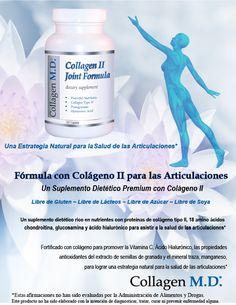 Collagen M.D.® Fórmula con Colágeno II para las Articulaciones #LibreDeGluten #CollagenMD #colagenotipo2 #LibreDeGluten