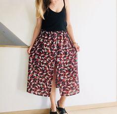 Ouh la copieuse (tuto) – Bobines et Chocolat Bandana, Harem Pants, Chocolate, Crafts, Inspiration, Fashion, Patterns, Couture Skirts, Couture Facile