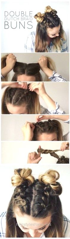 Incredible I'm super excited to show you how to do these adorable Double Dutch Braid Buns! This half-up hairstyle is super trendy right now and one of my favorites! I think I maybe love this do so  ..