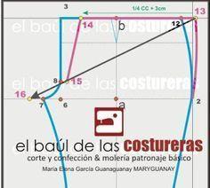 Pantalón a medida. Segunda Parte: Trazado parte trasera | EL BAÚL DE LAS COSTURERAS Sewing Lessons, Sewing Techniques, Pattern Design, Album, Cool Stuff, Fun, Patterns, Hermes, Crafts