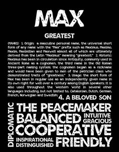 MAX Personalized Name Print / Typography Print / by OhBabyNames