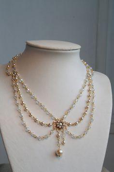 Collar de novia victoriano collar Vintage por mylittlebride en Etsy