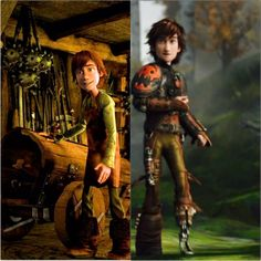 15 year old Hiccup and 20 year old Hiccup. I hate it when people say he changed too much between HTTYD and HTTYD 2, because he didn't. Sure, he looks different and he is more confident now but on the inside he is still the same adorably dorky character we all came to know and love. Just because he's hot now doesn't mean it changed who he is as a person. Hiccup is still Hiccup. :)