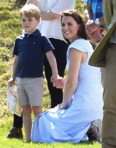 Duchess Kate Prince George Princess Charlotte Prince William Polo Match