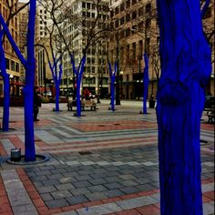 I never understood the blue trees.
