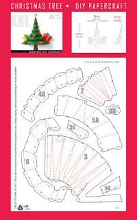 Diy Christmas Tree Papercraft Pdf Template Paperblog Paper Toy Christmas Paper Crafts Cardboard Christmas Tree