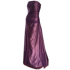 Stunning Vera Wang Size 14 Purple Taffeta Silk Tulle Vintage Evening Gown   From a collection of rare vintage evening dresses at https://www.1stdibs.com/fashion/clothing/evening-dresses/