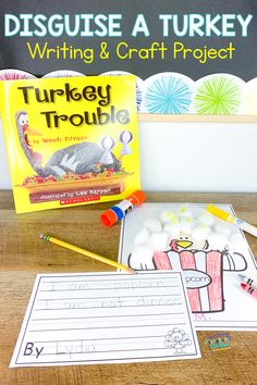 Disguise a Turkey Craft Project, Writing Activity & Seesaw Activity
