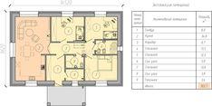 Проект одноэтажного дома до 100 кв.м с 3-мя спальнями