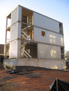 Shipping Container House - Atlanta, GA by Mr. Kimberly, via Flickr