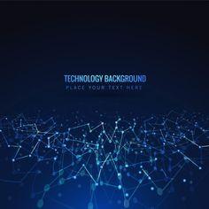 Blue shiny technology background Free Vector