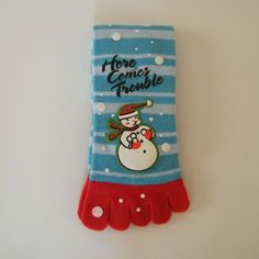 Christmas Novelty GLITTER SNOWMAN SNOWFLAKE CREW SOCKS Holiday Costume Stockings