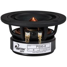 """New full-range driver by Parts Express/Dayton Audio!    Dayton Audio PS95-8 3-1/2"""" Point Source Full Range Driver 8 Ohm  Should be wonderful in a open baffle or line array!"""