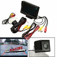 Kit de Monitor 4.3 Pulgadas + Cámara de Aparcamiento Trasera Universal con Cableado -- 21,93€