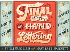 Mkm_skillshare_finalsteps_promo_dribbble_01 #typography #design #inspiration