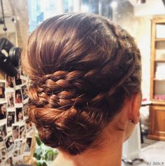 hairstyle, updo, wedding hairstyle, braid, brown hair, 365c, 365coiffures, coiffure