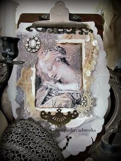 """A Fabric and Lace Book to share """"Catching Innocence"""" 