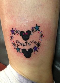 Believe mickey and minnie tattoo