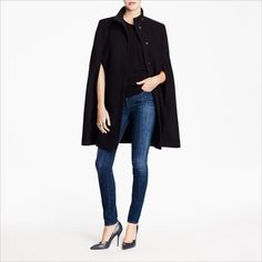 Structured at the shoulders and high-necked, Stella McCartney's cape is the kind of grown-up outerwear classic that you can wear year after year.