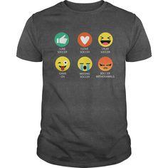 I Love Soccer Emoji Emoticon graphic shirt