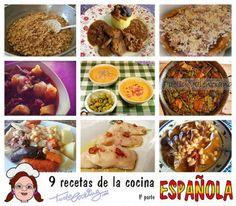 9 recetas de la cocina Española (1ª parte)