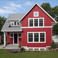 Red Exterior Paint Color. The house siding and trim are LP ...