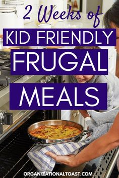 Simple and cheap meals to feed your family on a budget. Kid friendly ideas that won't break the bank. Includes meal ideas, recipes and more to help you feed your family for less. Includes 2 dollar dinners and 5 dollar dinners! So many tasty options! Frugal Meals, Budget Meals, Easy Meals, Planning Budget, Meal Planning, Family Meals, Kids Meals, Easy Kid Friendly Dinners, Healthy Recipes On A Budget