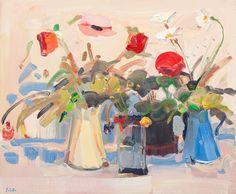 Still Life with Pink Poppy Art Print by James Fullarton at King & McGaw