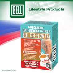 Bell Ezee Flow Tea's special formulation consists of 12 herbs including Cranberry and Chamomile that are not only effective together in easing the flow and normalize urinary frequency, but also taste great! Learn more about Bell Ezee Flow Tea on our website today. http://www.belllifestyleproducts.com/04a-ezeeflowtea-urinary-frequency-men.htm