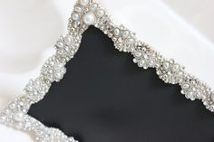 Vintage Style Large JEWELED RHINESTONE FRAME  by Embellish1122, $24.00