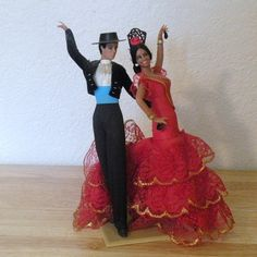 Marin+Chiclana+Spanish+Dancers+Dolls+by+OhBabyVintageByJill,+$16.95