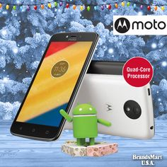 Smartphone Deal - $69.88 ... • Motorola Moto C Unlocked Smartphone • Android Nougat - Quad-Core Processor - Long Battery Life • Buy now - tap the link in our bio • Go to SKUs: XT1750WHT, XT1750BLK