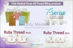 Korean Thread Lifting All Products ✅ Omega VL : Original, Original L-cannula, Spike, Spike L-cannula, Little1, Little2, Little3, Little4, Cog Screw, Nb1, Nb2, L-cannula,Monofilament ✅ T-Serise :T-mono, T-screw, T-cog, T-cog L, T-cog nose ✅ Ruby Thread (PLLA) : Cog Thread, Mono Thread, Screw Thread ✅ Ruby Thread (PCL) : Cog Thread, Mono Thread ✨ Effect Lifting & Wrinkles Removal Thread Lift, Wrinkle Remover, Omega, How To Remove, Korean, Medical, Products, Korean Language, Medicine