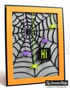 Spooky Sentiments, Centerpieces Spooky Window Die-namics, Rectangle Frames Die-namics, Spider Web Cover-Up Die-namics - Julie Dinn #mftstamps