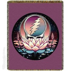 Grateful Dead - Steal Your Face Lotus  Throw Blanket