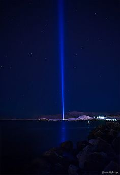 Imagine Peace Tower | This is Yoko Ono's Imagine Peace Tower located in Reykjavik, Iceland. Shot just before midnight.
