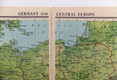 Vintage Germany and Central Europe Map  by PeonyandThistlePaper, £8.50